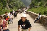 """Montaña sagrada taoísta """"Taishan"""" en la provincia de Shandong<br />7.200 escalones de piedra hasta la cima<br />No hace falta esperar para emprender,<br />Ni conseguir para perseverar.<br />Williams d' Orange"""